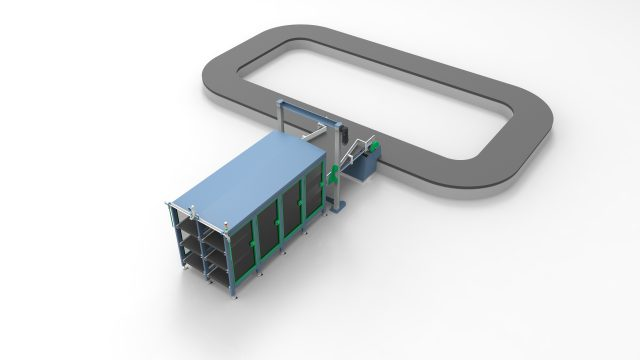 The delivery belts can be interconnected to both reclaim and transit belts for a fully automated inbound process
